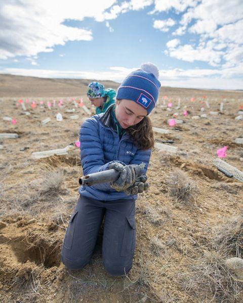 Lander Middle School Seedling Planting
