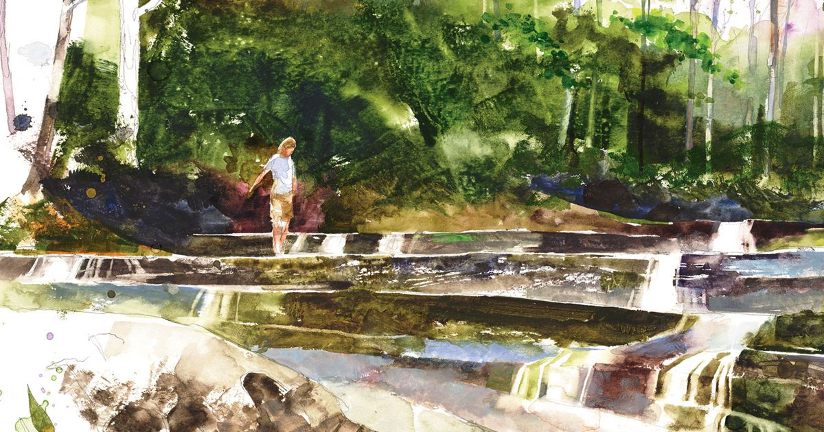 Walls of Jericho in watercolor by Stan Fellows