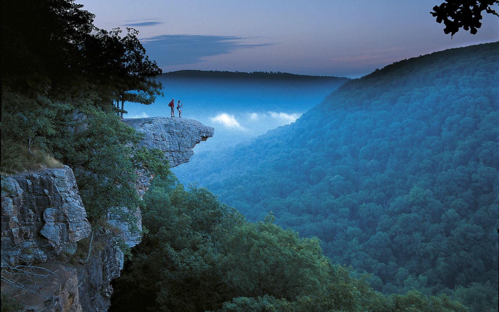 The view overlooking the Ozarks from Whitaker Point is breathtaking.