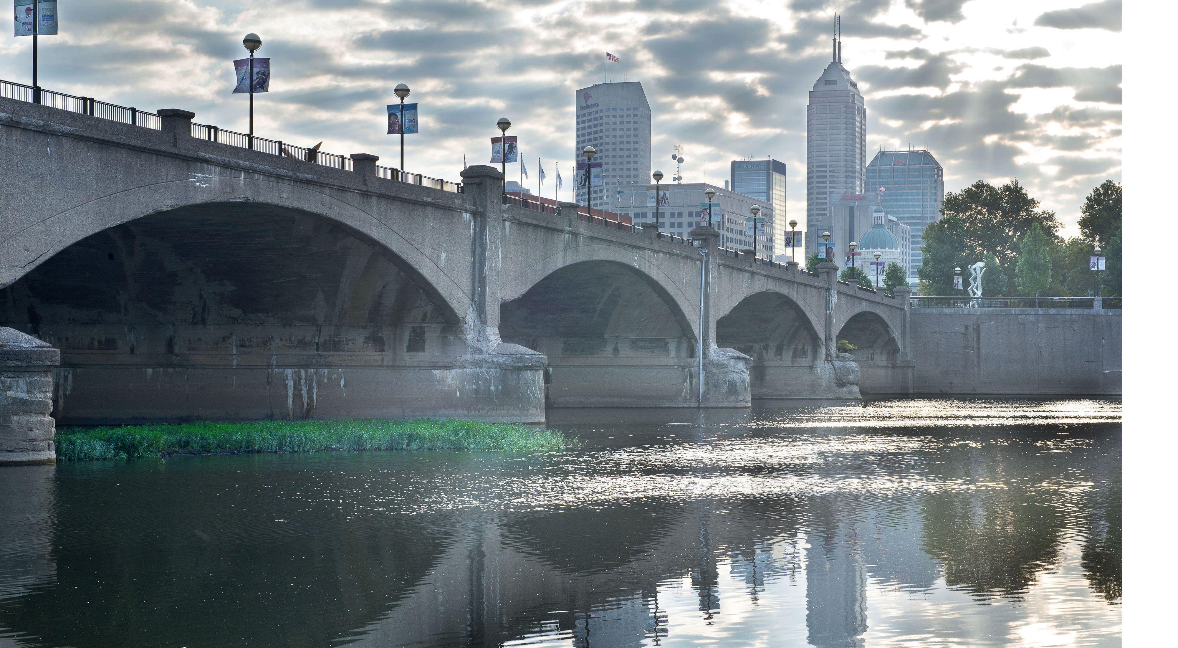 White River as it runs through Indianapolis