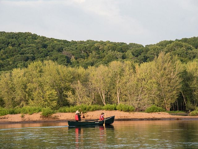 I Can Paddle! Participants learning to paddle a canoe, canoeing on the St. Croix River