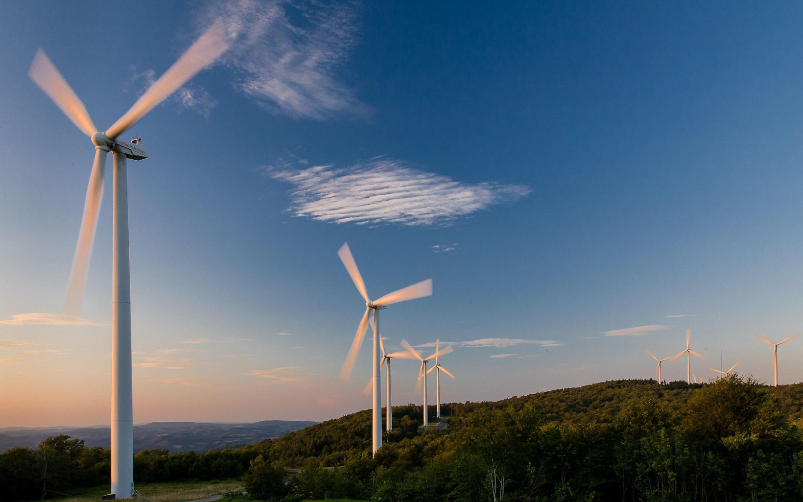 Wind Farm Turbines in West Virginia
