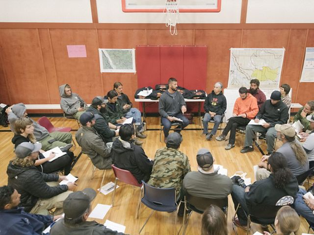 A training hosted by the Yurok Tribe and the Cultural Fire Management Council in Northern California