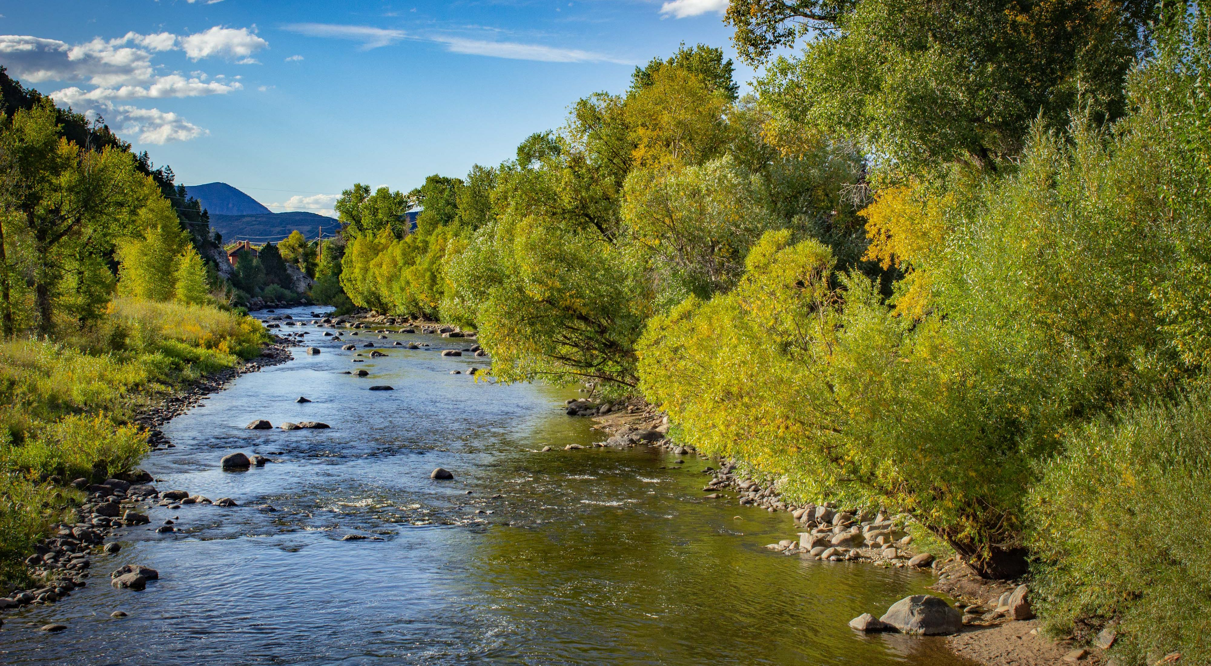 Early autumn on the Yampa River as it runs through Steamboat.