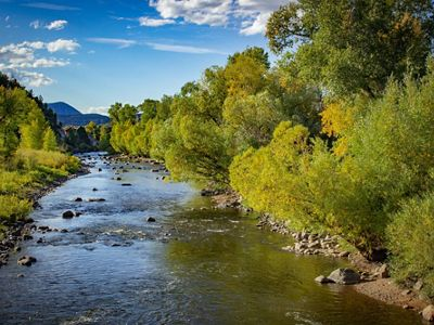 A sunny day on the Yampa River.
