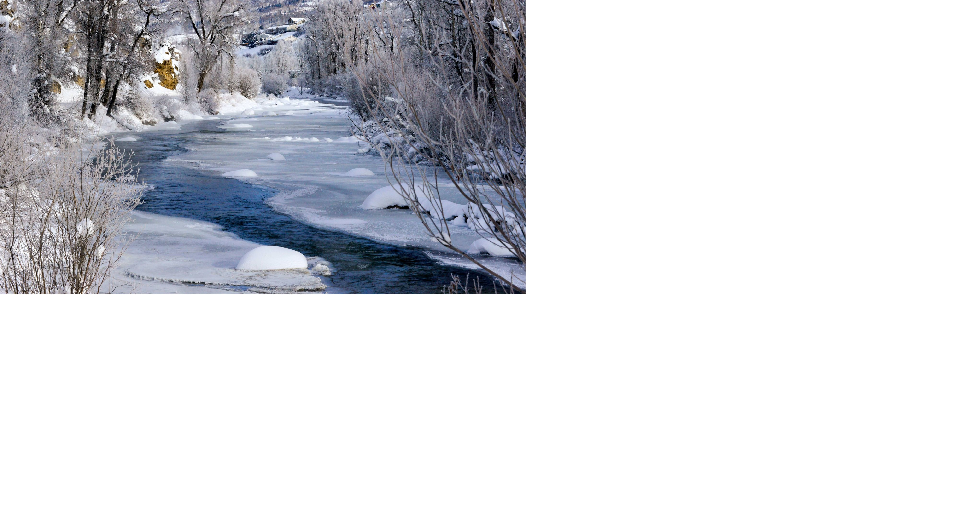 Yampa River in snow.