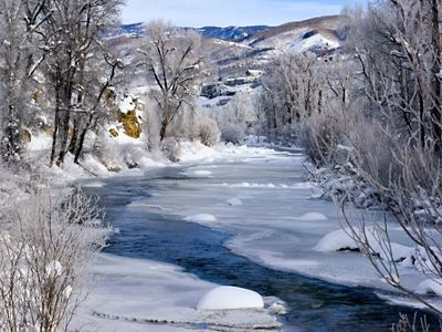 A winter landscape on the Yampa.