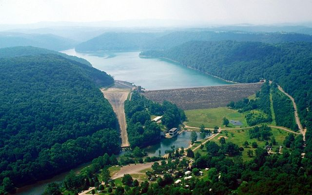 The Youghiogheny Lake and Dam is located in western Pennsylvania, near Pittsburgh.