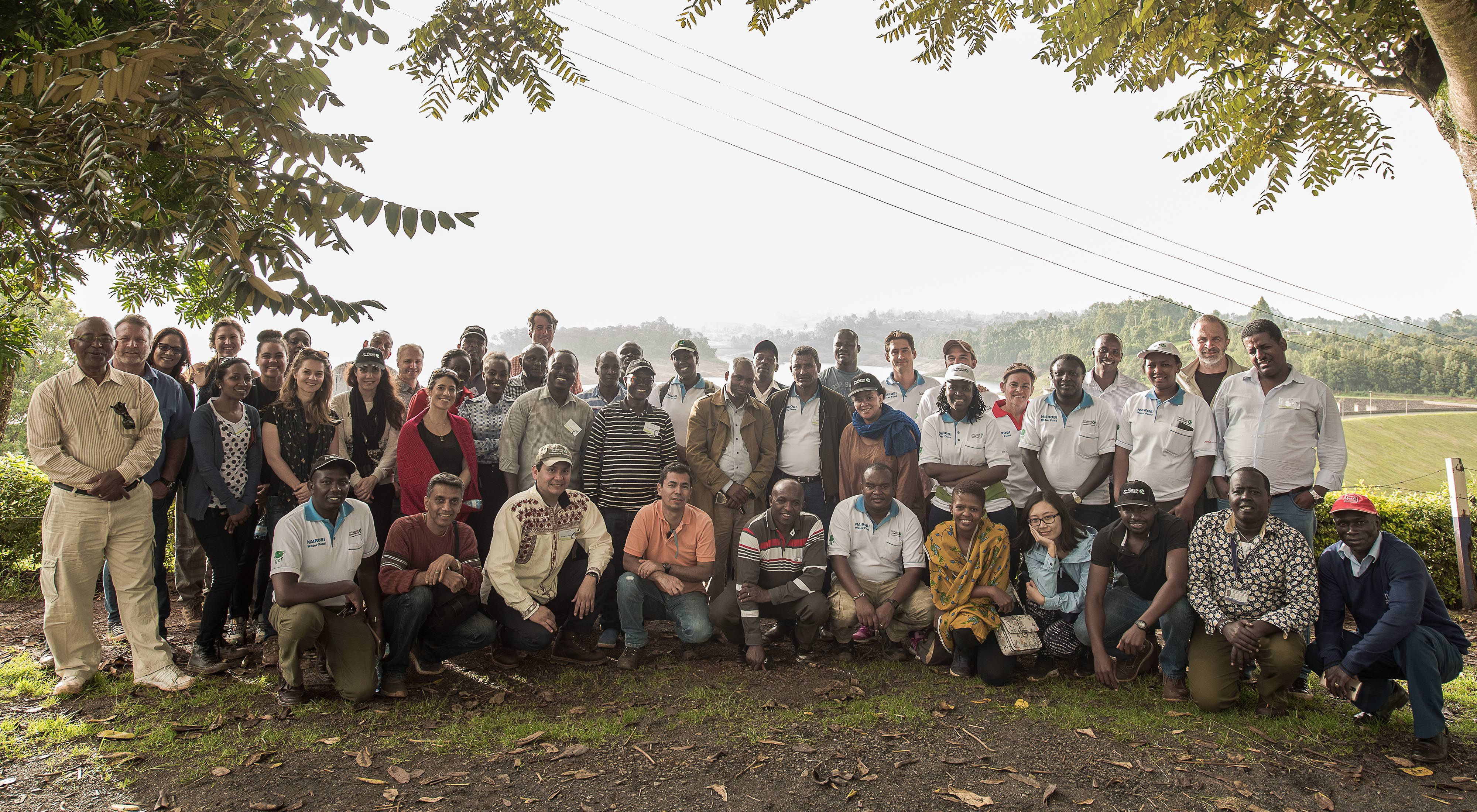 Participants of a water fund workshop