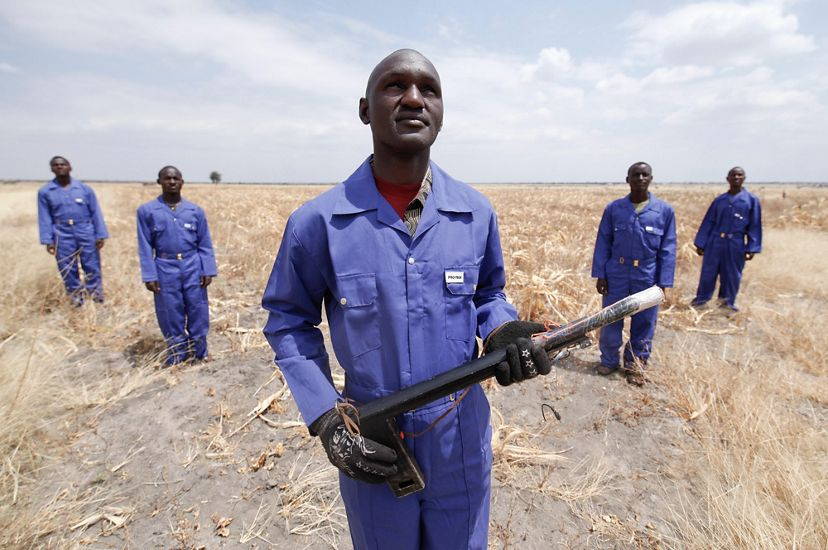 Group photo of Tanzania's crop protection team