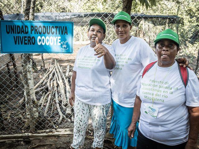 Implementadores y promotores de las medidas de adaptación en el área de influencia de la ciénaga de El Sapo, en Antioquia.