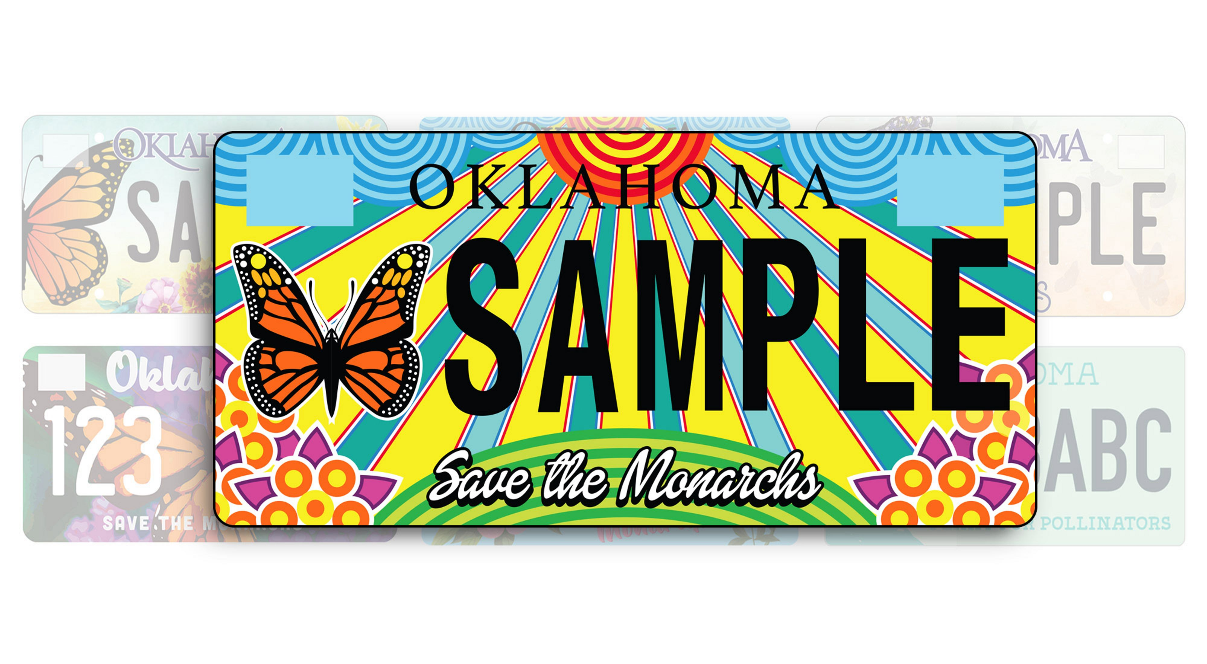 Oklahoma Monarch License plate benefiting The Nature Conservancy.