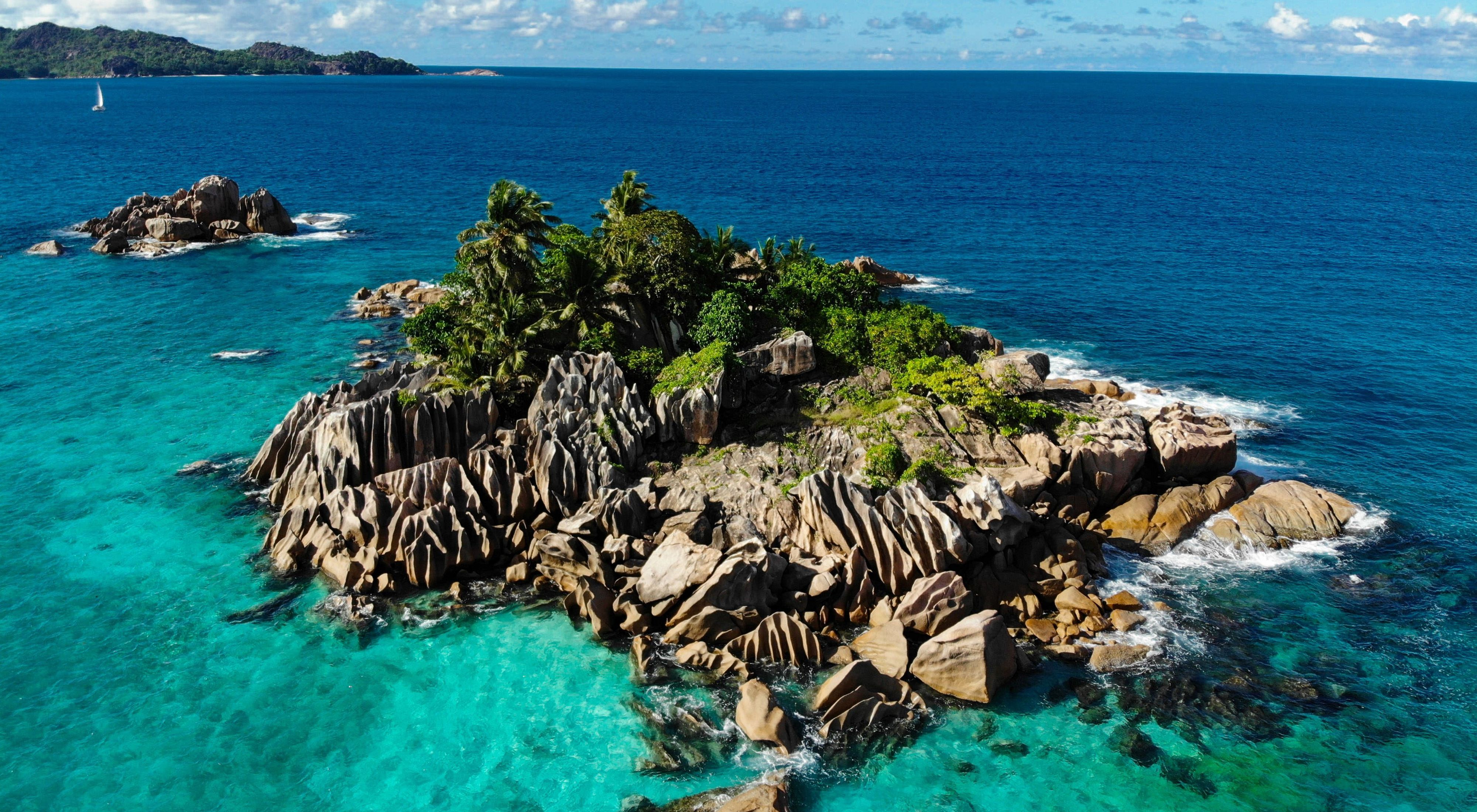 of an island in the Seychelles.