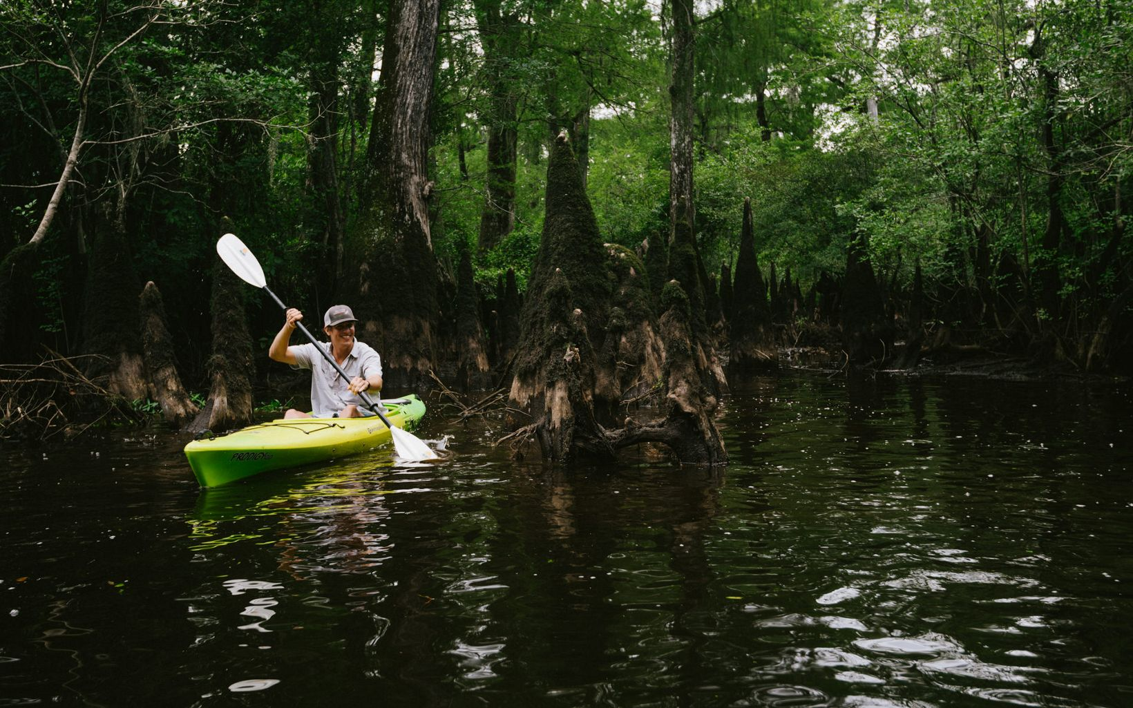 Paddling on the Black River.