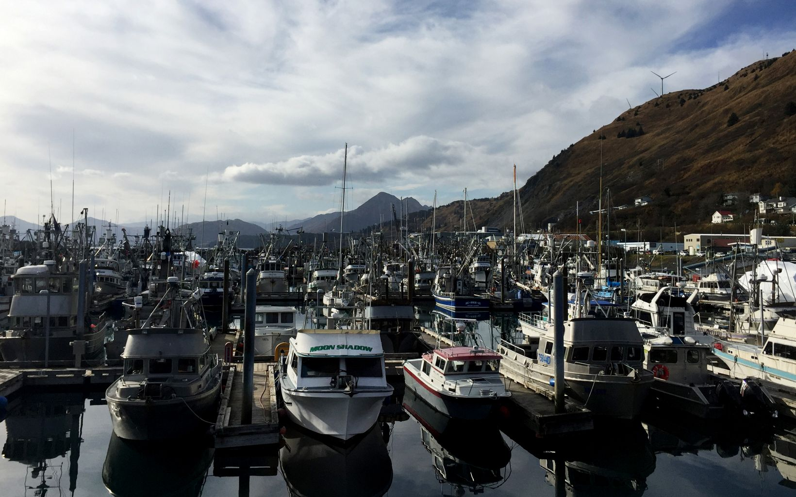 Fishing boats in Kodiak, Alaska.