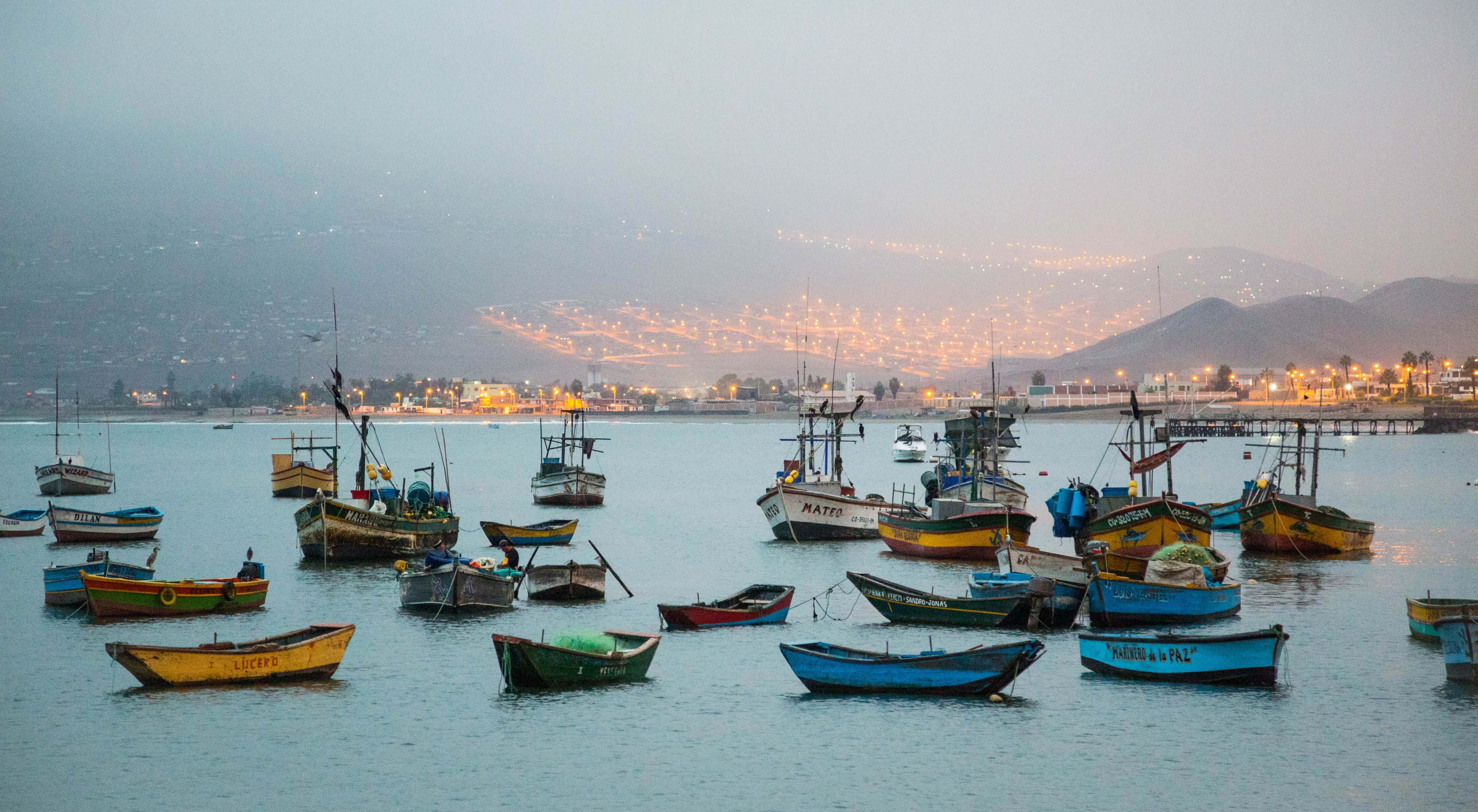 Fisherman in Ancon, Peru, where TNC's sustainable fisheries management tool, FishPath, was piloted.