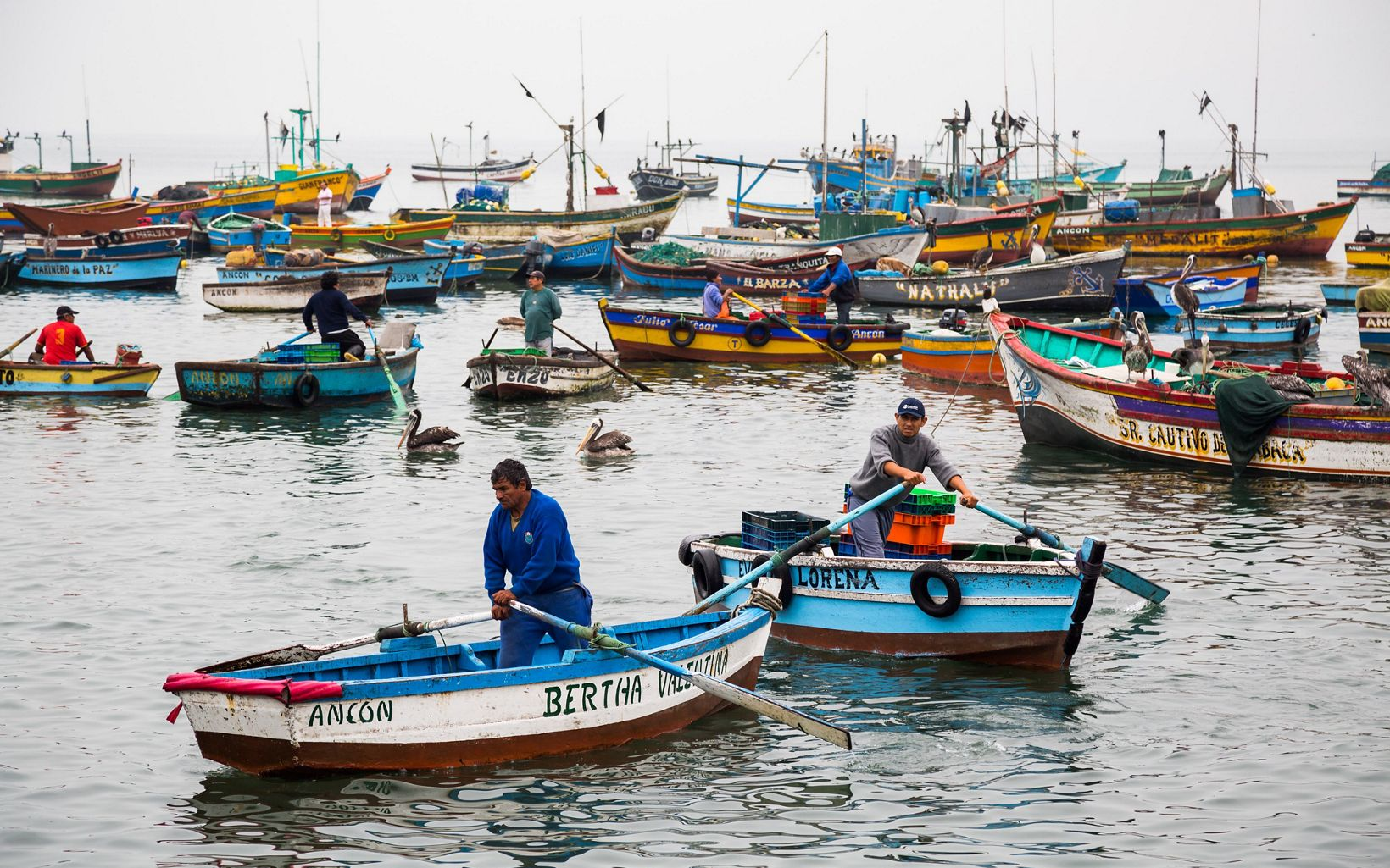 in Ancón, Peru. Ancón is a small fishing town and seaside vacation destination about an hour north of Lima.
