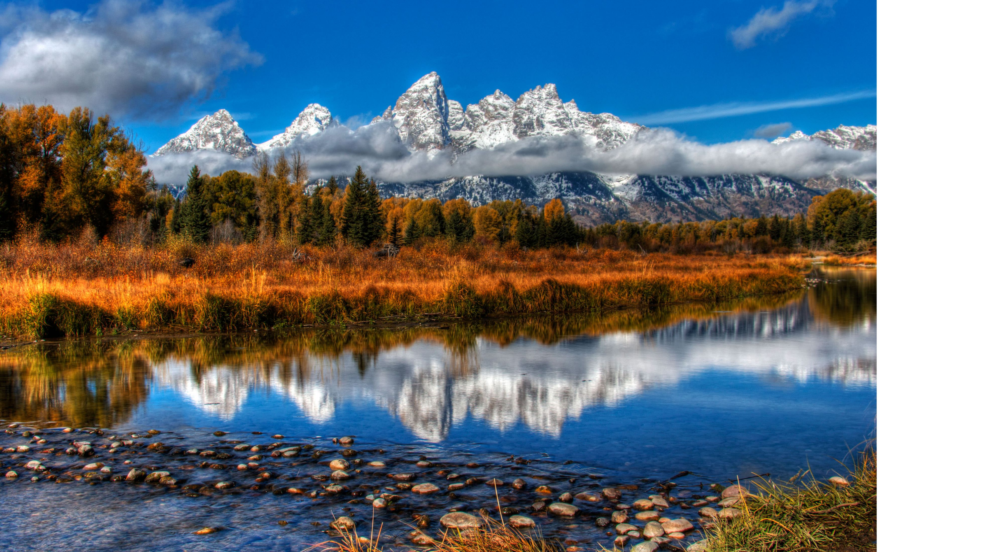 of the snowy Grand Tetons in Wyoming.