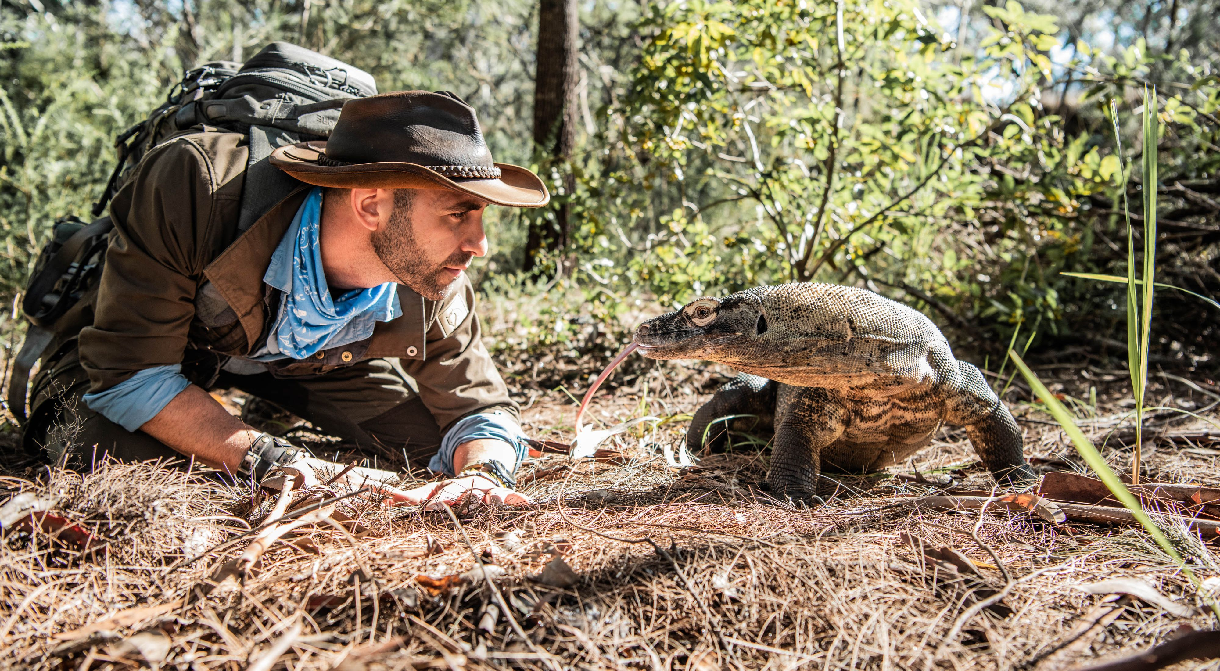 Coyote Peterson in the wild