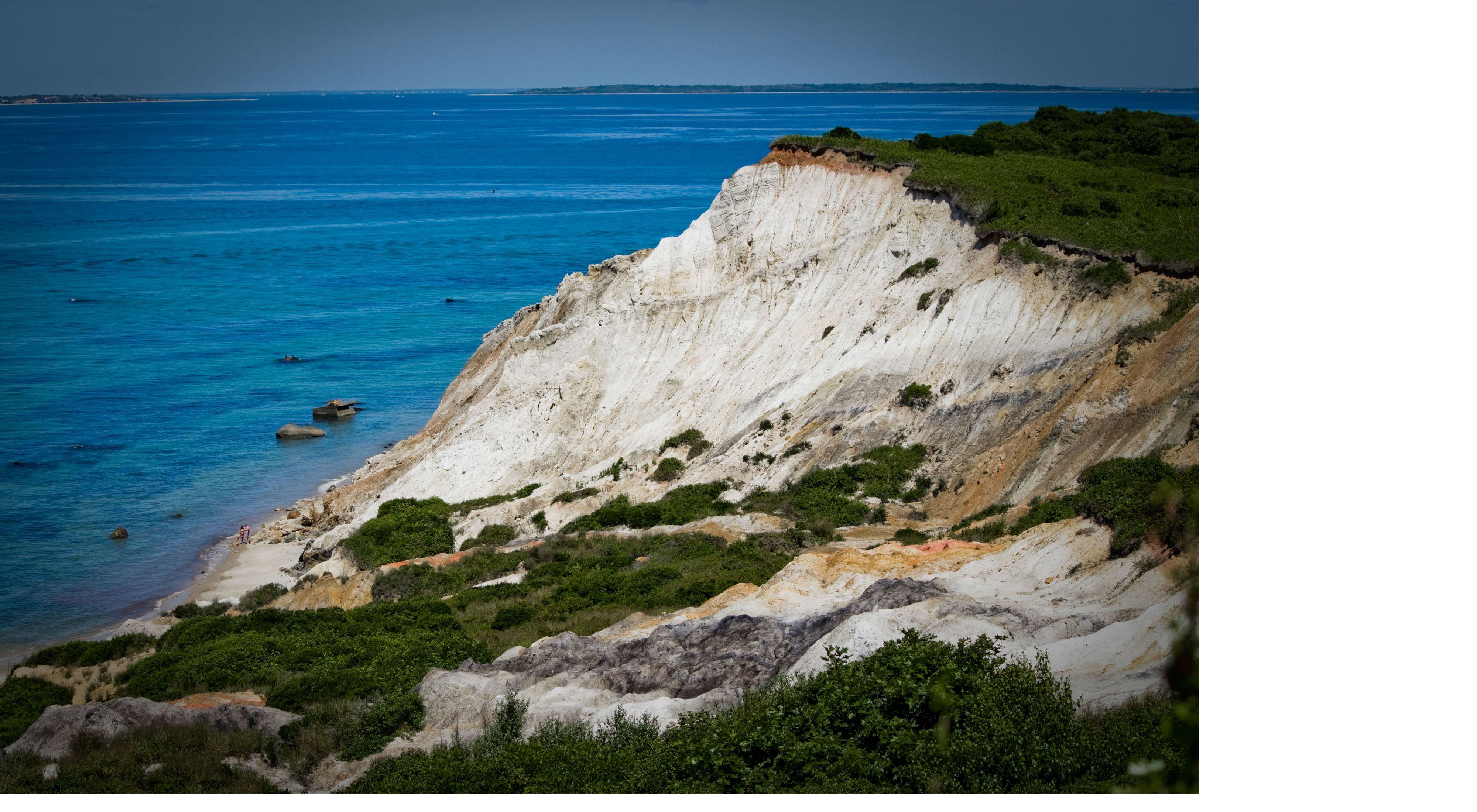 A view of Aquinnah Cliffs on Martha's Vineyard
