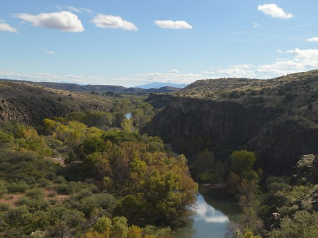 The Verde River as seen from the Verde Canyon railroad.