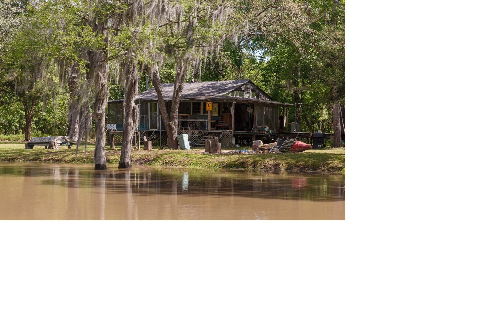 A camp in the Atchafalaya Basin.