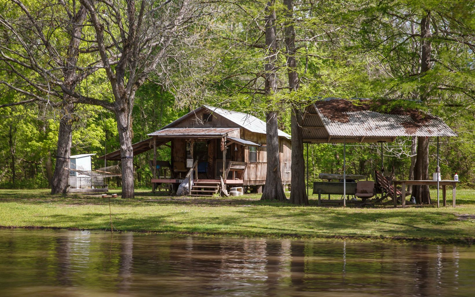 A house in the Atchafalaya River Basin