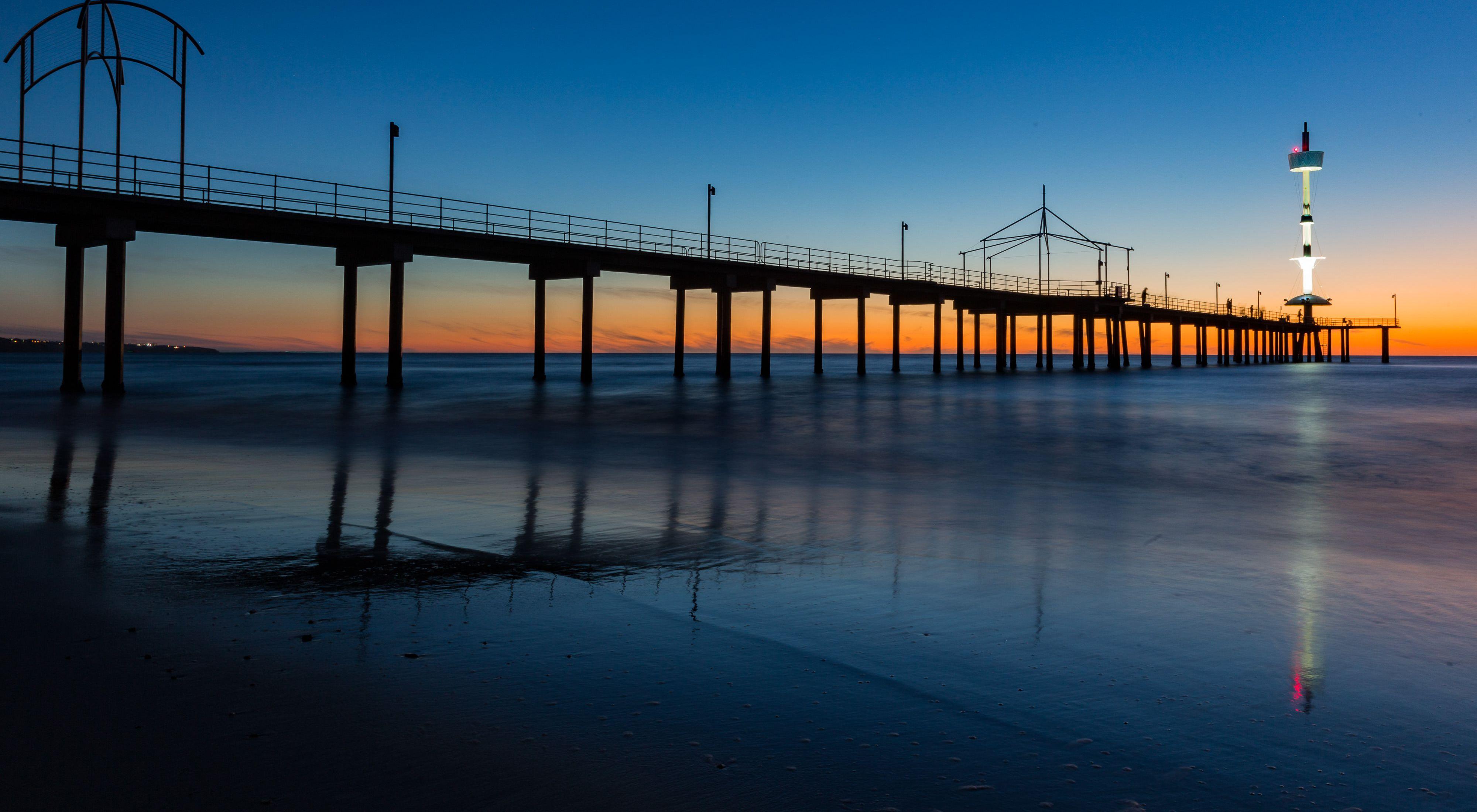 a bridge at dusk