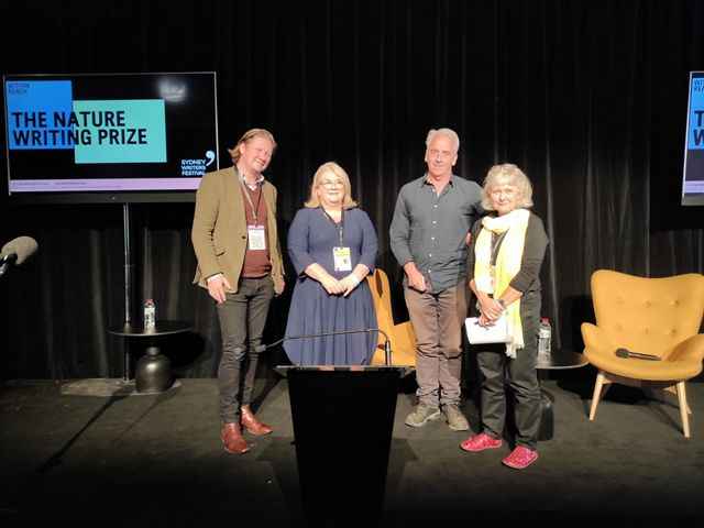 Left to right: Geordie Williamson (Judge), Alison Rowe (TNC Australia Managing Director), Gregory Day (Prize Winner) and Ashely Hay (Griffith Review Editor)