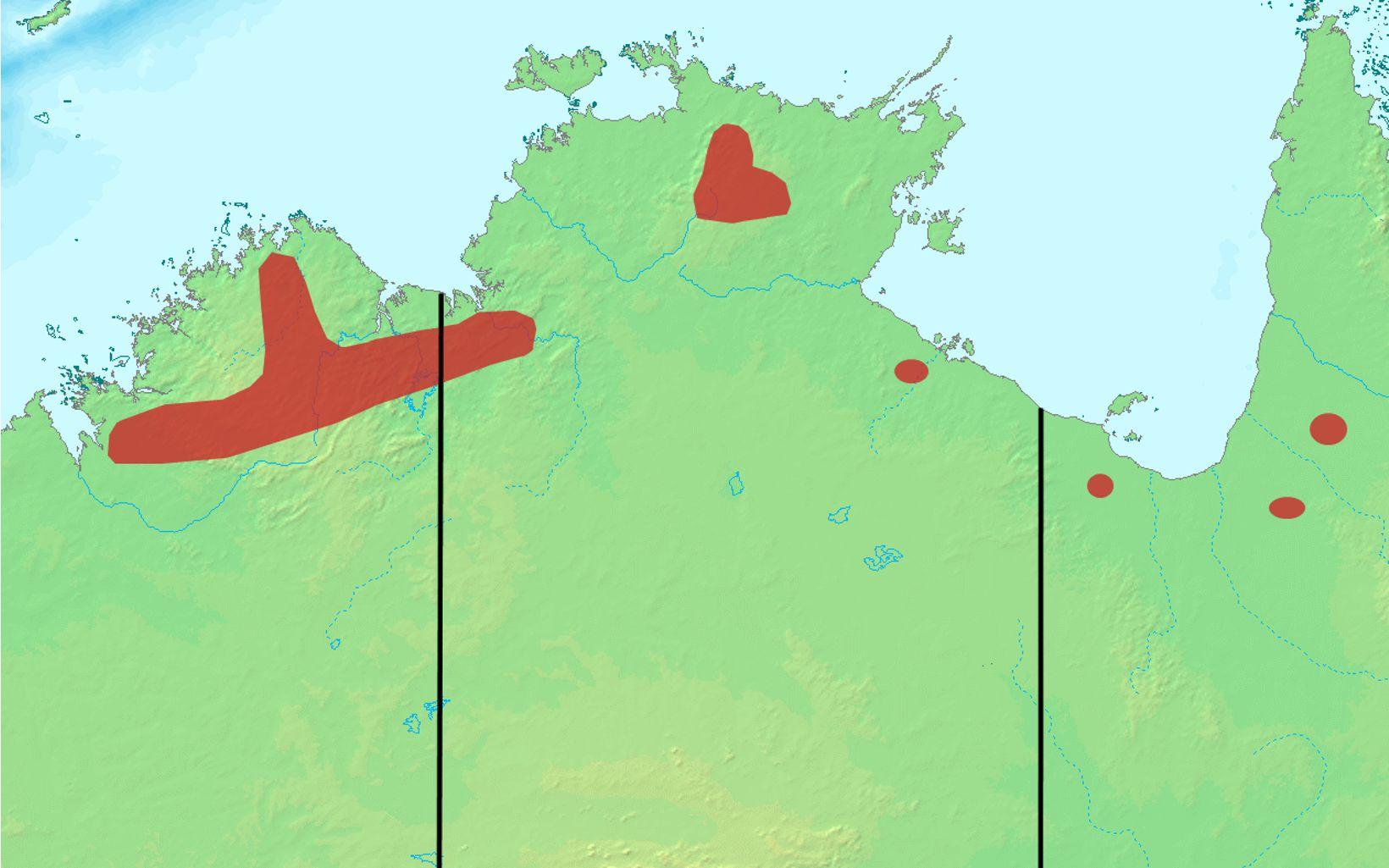 only found in northern Australia