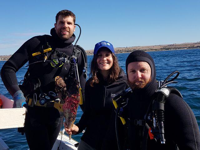 Left to right: Dr Chris Gillies, Anita Nedosyko & Simon Branigan