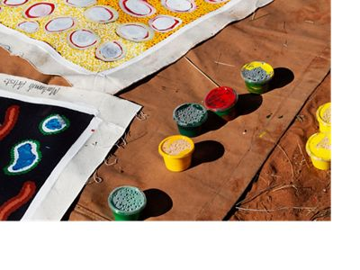 Art remains a strong element of Aboriginal culture, shown here on Martu Country