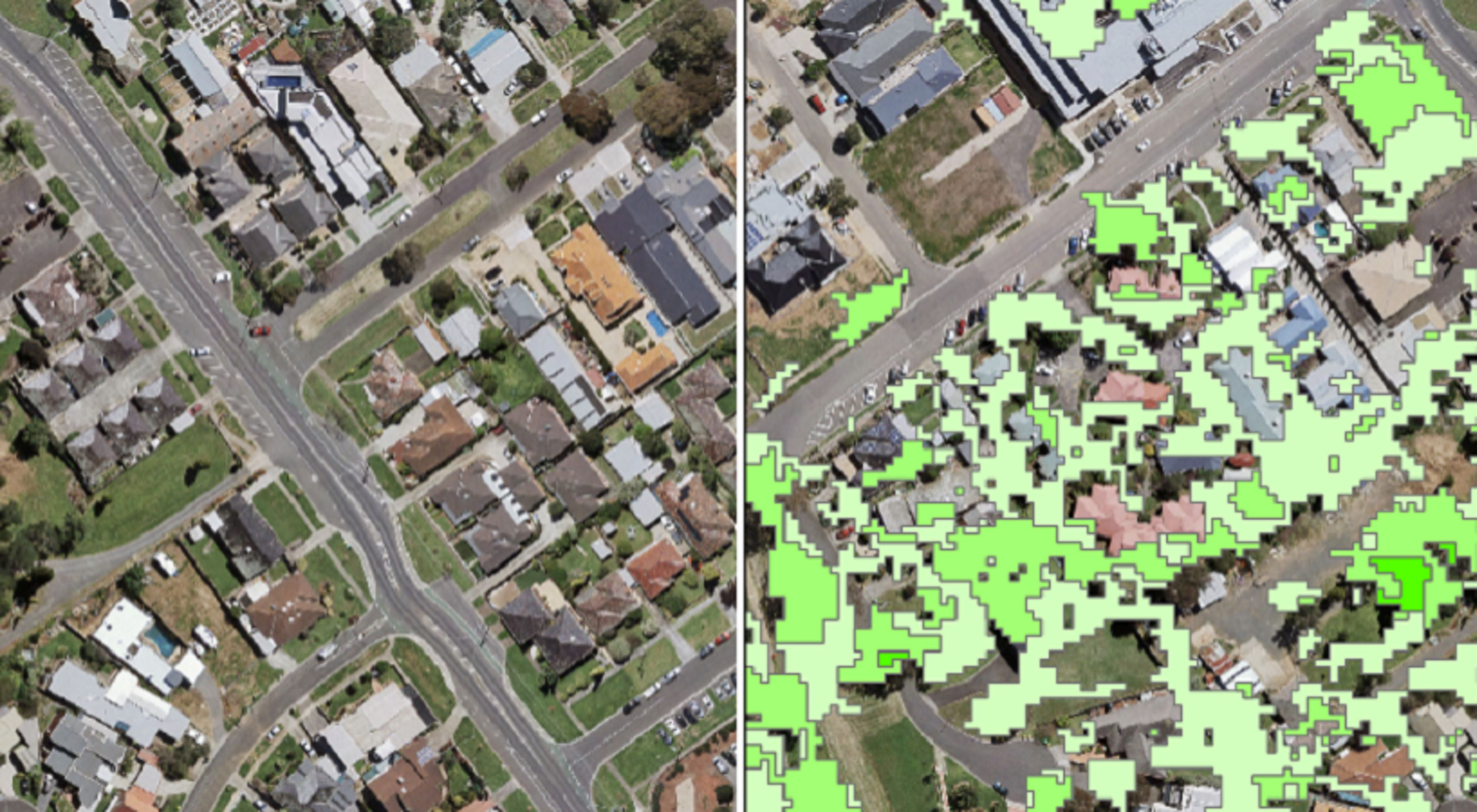 satellite technology maps out plants of various sizes across Melbourne