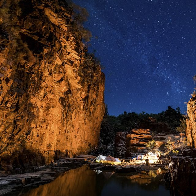 Camping in a sandstone gorge