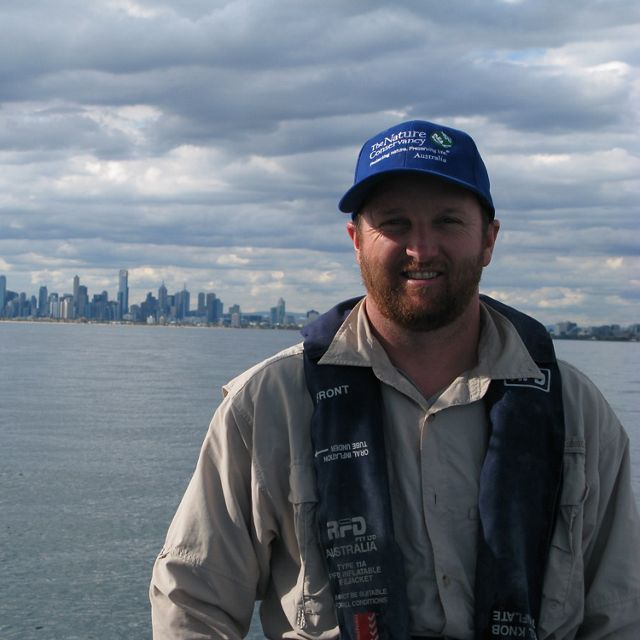 Marine Restoration Coordinator on the water in Port Phillip Bay
