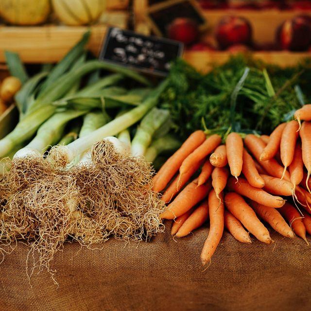at a farmer's market