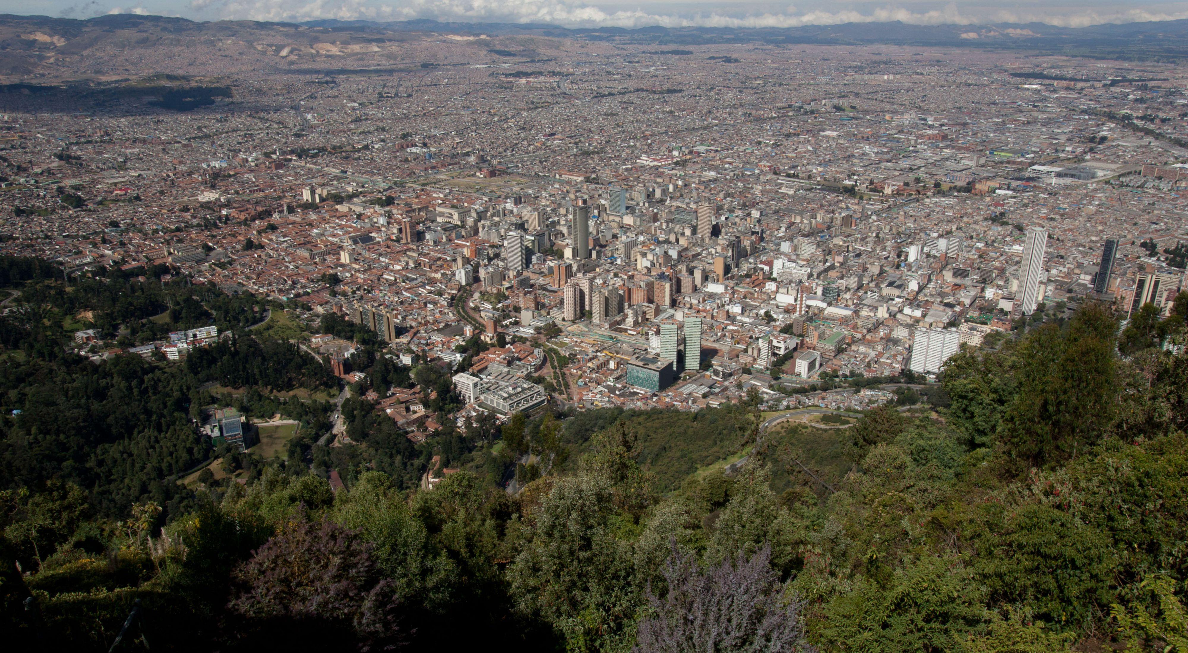 Vista de bogotá, colômbia