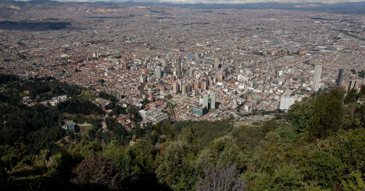 . A wide view of Bogota, Colombia. The cost of water treatment in this city has grown to more than 7 million. The Conservancy is encouraging private companies sush as Bavaria brewery and public entities such as Bogota's water facility company to invest in self-sustaining water funds to protect river basins and ultimately the city's water supply