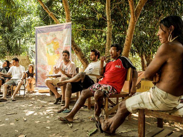Povos Indígenas na aldeia Kokraimoro, em São Félix do Xingu, Amazônia Brasileira
