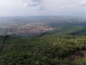 Vista aérea da cidade de Extrema-MG