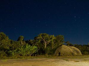 Céu estrelado na Aldeia Wazare, do povo indígena Paresi, em Campo novo do Parecis-MT.