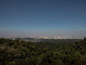 Cidade de São Paulo vista do Parque Estadual da Serra da Cantareira