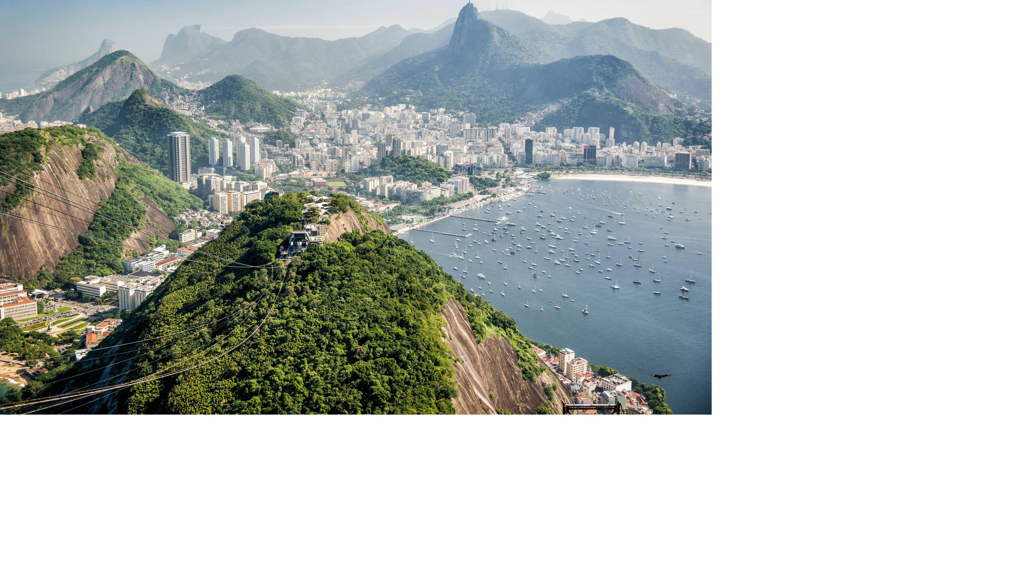 Vista aérea da cidade do Rio de Janeiro-RJ.