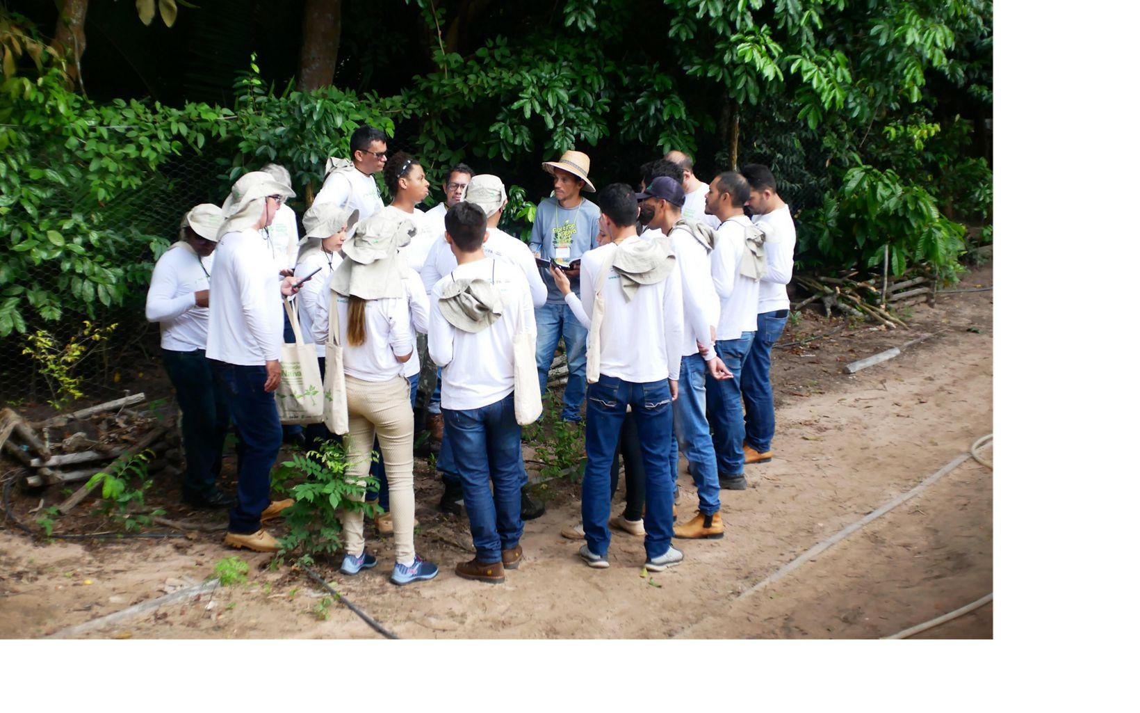 Parte das atividades do curso aconteceram em campo, para mostrar os benefícios da restauração florestal.