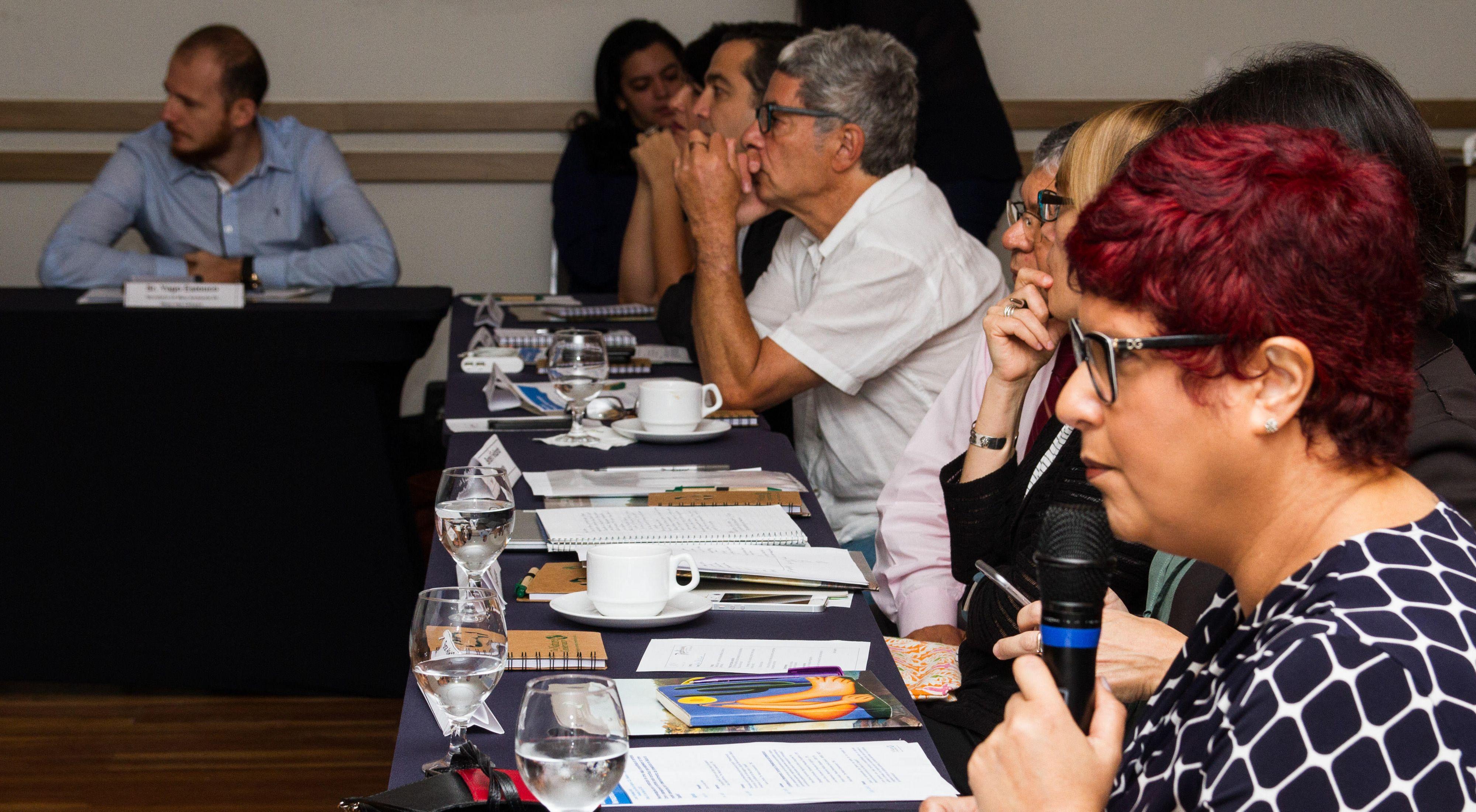 Karen Oliveira, Gerente de Infraestrutura da TNC Brasil, falando durante o Seminário Diálogos Tapajós, em 2018.