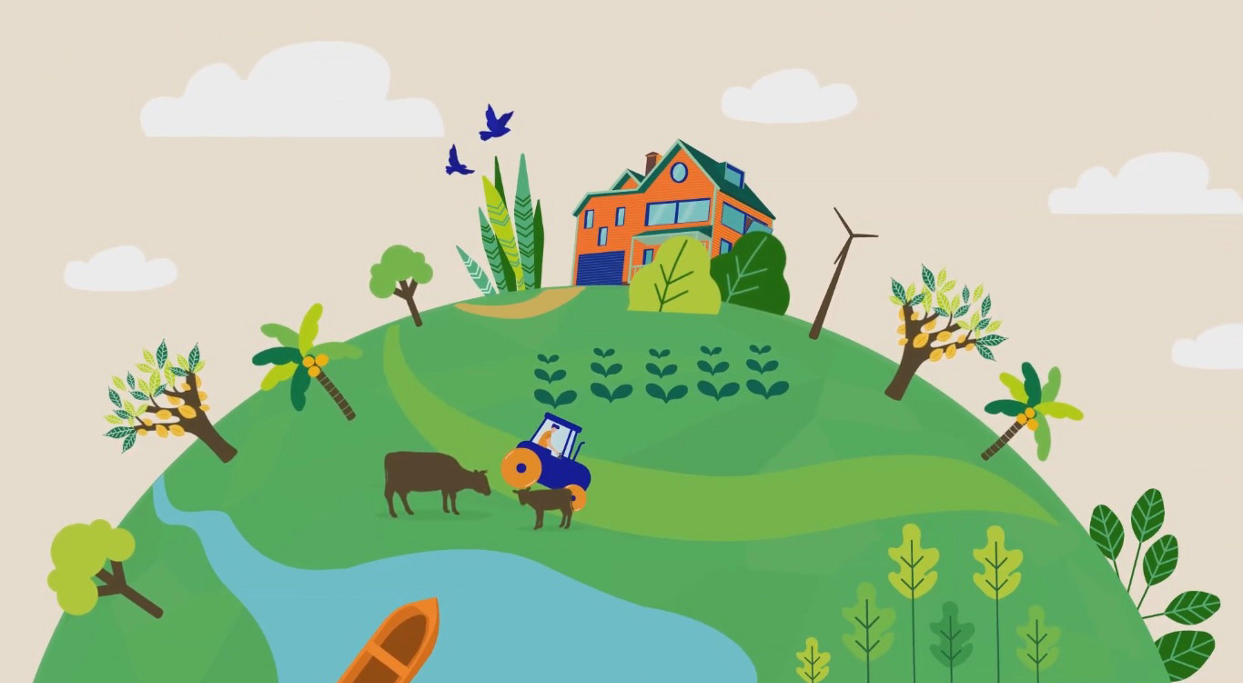 Imagem do vídeo sobre o Plano de Regularização Ambiental.