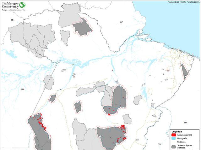 A mineração ilegal é um dos graves problemas enfrentados pelas comunidades indígenas