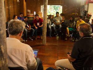 Discussão durante o seminário PNGATI 2030, no Rio de Janeiro.