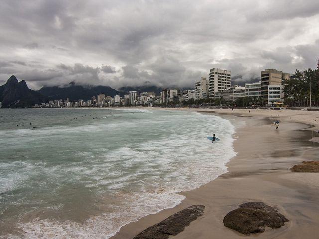 Praia de Ipanema, no Rio de Janeiro-RJ