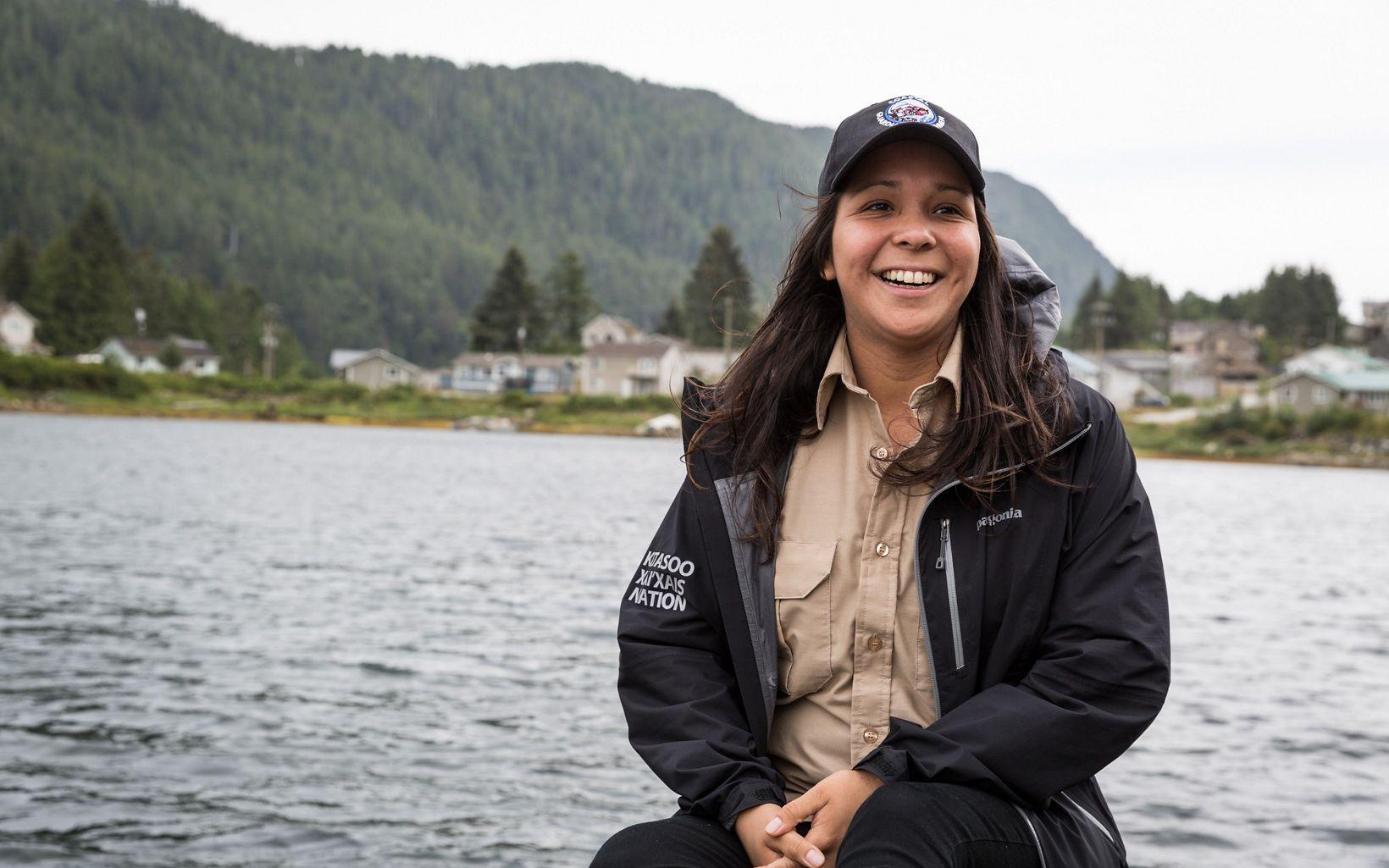 Kitasoo Coastal Guardian Watchmen member and former SEAS Intern, Chantal Pronteau.